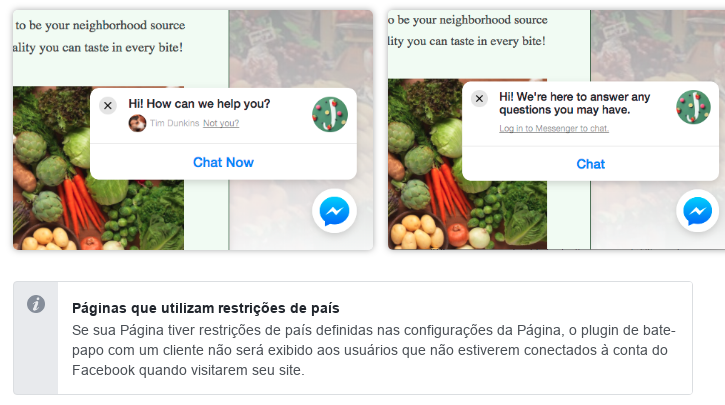 Instalando o chat do Messenger no seu site ou blog