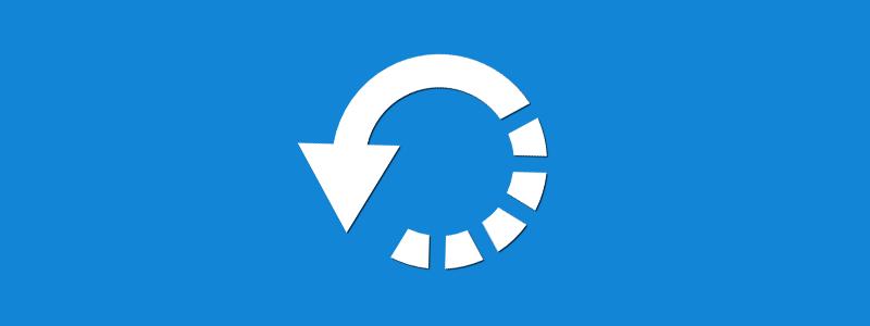 Restauração de alterações pelo WordPress