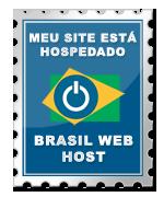 Selo meu site esta na Brasil Web Host